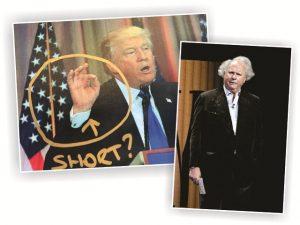 Trump se encontra com jornalista rival que disse que seus dedos são curtos