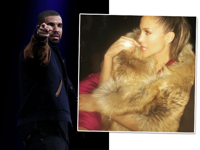Drake e J-Lo, em seu primeiro post de 2017 no Instagram    Créditos: Getty Images/Reprodução/Instagram