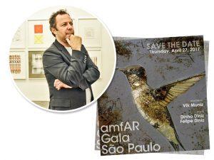 Vik Muniz será o grande homenageado da 7ª edição do gala amfAR