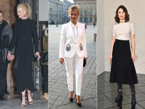 Fila A: o que as mais estilosas vestiram na semana de alta-costura em Paris