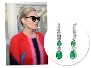 Kate Moss vai a desfile da Louis Vuitton com joia assinada por brasileiro