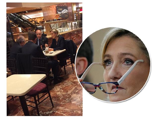 Marine Le Pen na Trump Tower, nesta quinta-feira || Créditos: Getty Images/Reprodução