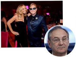 Russo contratou Mariah Carey e Elton John para cantarem no casamento da neta