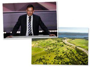 Peter Thiel e a região da Nova Zelândia onde ele comprou terras