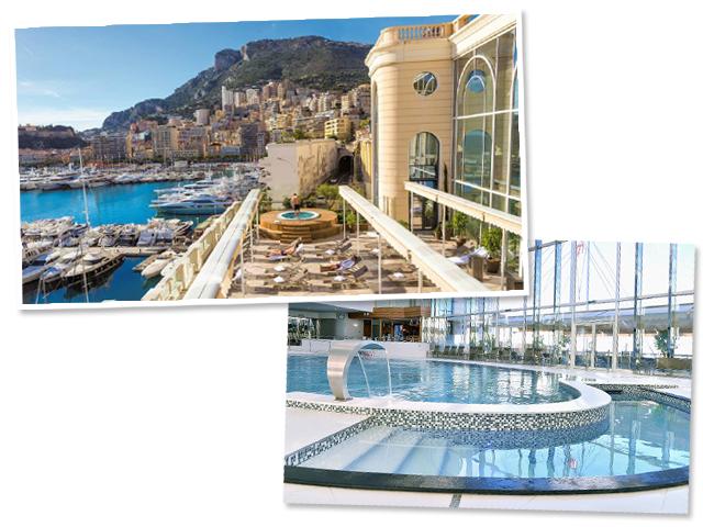Fachada e uma das piscinas do Spa Thermes Marins Monte-Carlo || Créditos: Divulgação