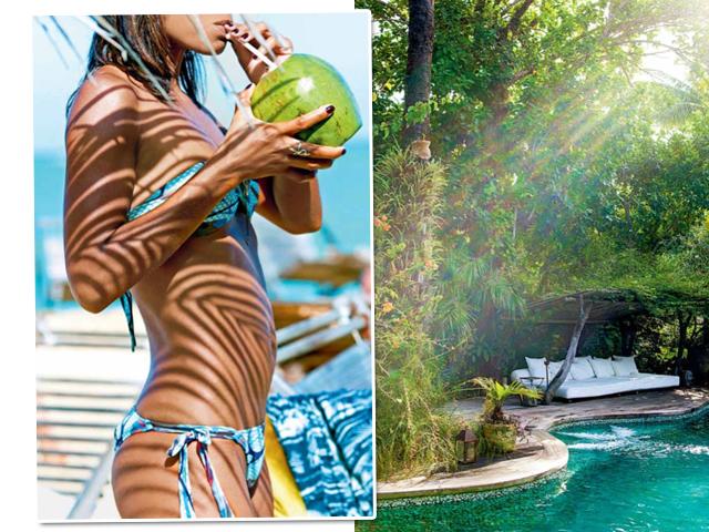 Detalhes da Uxua Casa Hotel & Spa, em Trancoso, único hotel brasileiro no no livro Chic Stays || Créditos: Divulgação