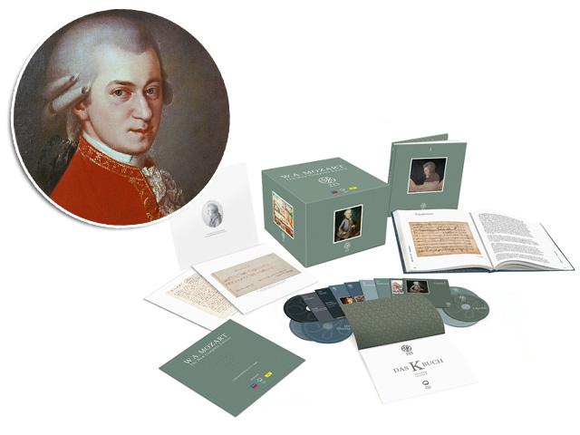Mozart e o box de CDs