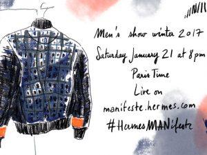 Assista aqui ao desfile masculino de inverno da Hermès em Paris. Play!