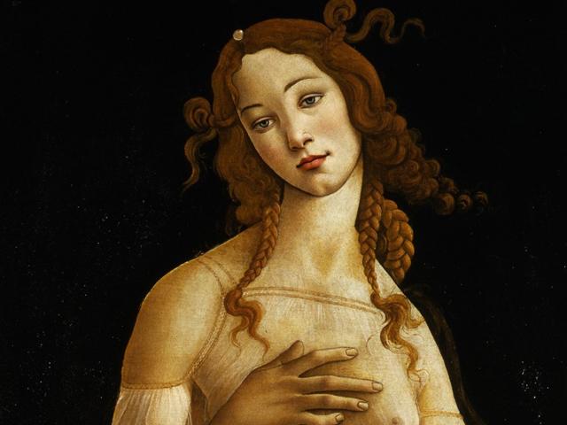 Detalhe de uma das Vênus de Sandro Botticelli cedida pela Galleria Sabauda para a exposição nos Estados Unidos    Créditos: Divulgação