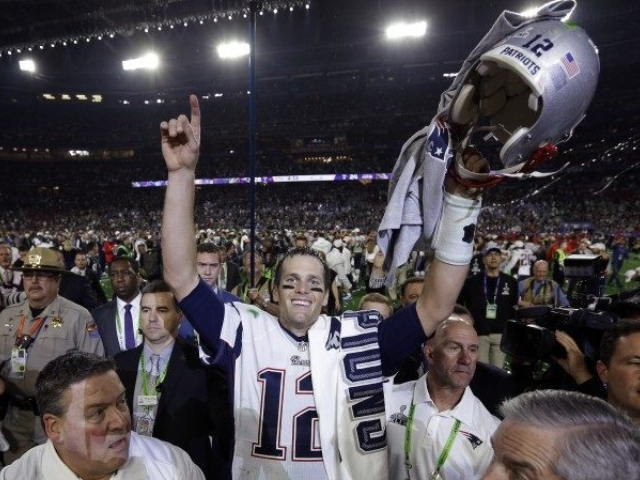 Tom Brady após a vitória do Patriots || Créditos: Getty Images