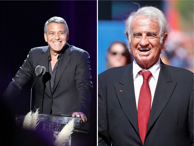 George Clooney e Jean-Paul Belmondo || Créditos: Getty Images