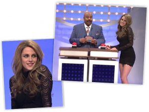 Gisele é parodiada por Kristen Stewart no humorístico Saturday Night Live