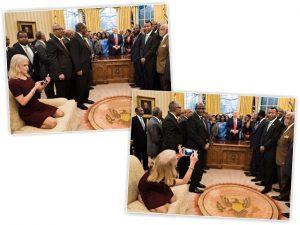Conselheira de Trump sofre críticas após sentar com os pés em sofá da Casa Branca