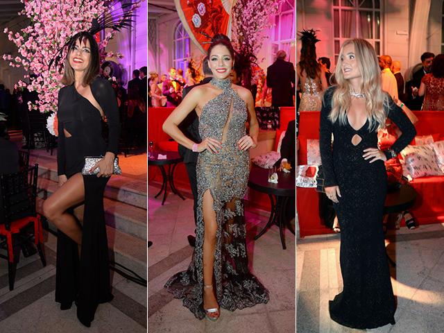 Livia Rossy, Luma Costa e Paola Villas com looks Agilità no Baile do Copa
