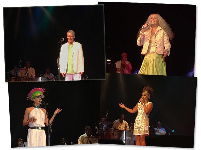 No palco: Chico Buarque, Maria Bethânia, Fernanda Abreu e Rosemary || Créditos: Glamurama