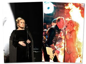 Adele fora do tom e Lady Gaga metaleira. Os highlights do Grammy 2017