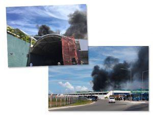 Fogo atinge o aeroporto internacional de Salvador em pleno Carnaval