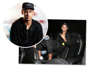 Suspenso dos gramados, Neymar aproveita para pegar um cineminha