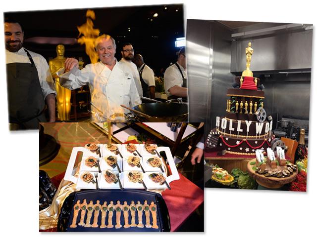 O chef Wolfgang Puck e os quitutes do Oscar