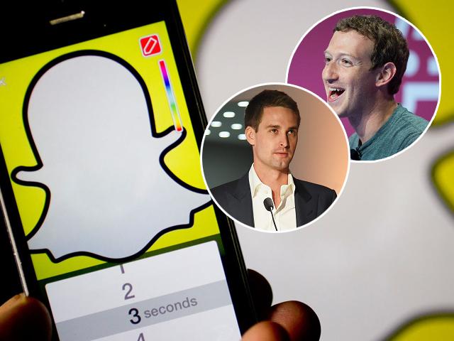 Spiegel e Zuckerberg: dueto de titãs    Créditos: Getty Images