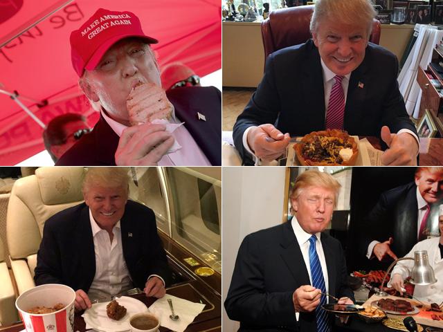 Trump em sua hora favorita || Créditos: Getty Images/Reprodução/Instagram