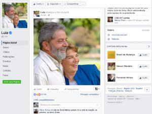 Lula faz primeira homenagem a Marisa Letícia em foto de perfil no Facebook