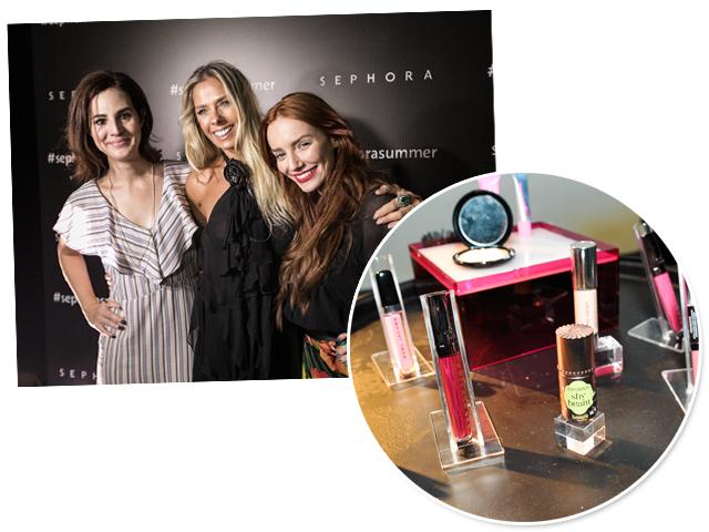 Vic Ceridono, Adriane Galisteu e Maria Eugênia na Sephora Summer nessa quinta-feira || Créditos: Paulo Freitas/Divulgação