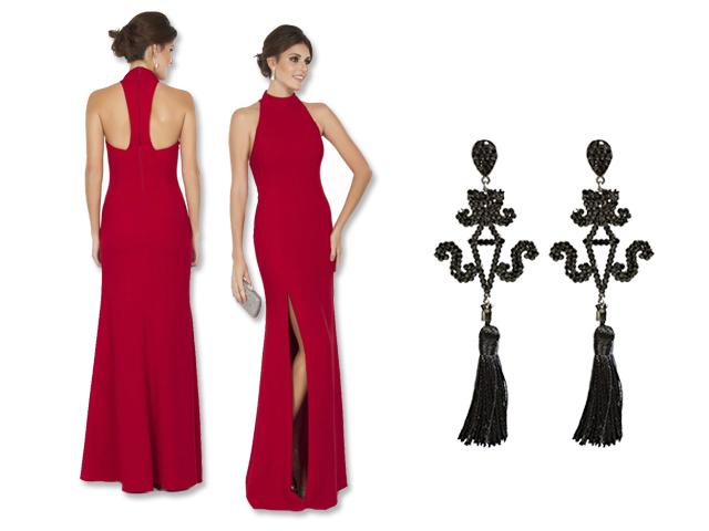 Vestido Marcelo Quadros para a Dress&Go e brincos Leticia Sarabia    Créditos: Reprodução