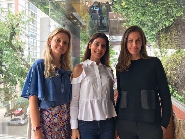 Andrea Conde, Daniela Lima e Paula Trabulsi, sócias do Espaço Consciente || Créditos: Divulgação
