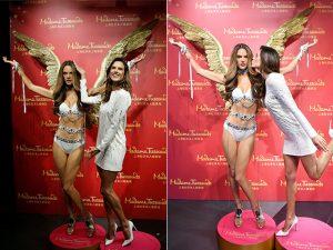 Alessandra Ambrosio ganha estátua na filial chinesa do Madame Tussauds