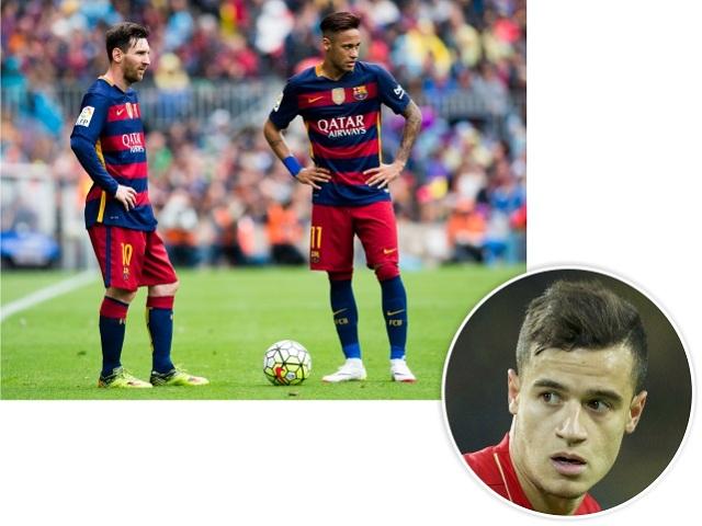 Messi, Neymar e Philippe Coutinho || Créditos: Getty Images