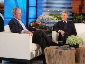 Com Ellen DeGeneres, George W. Bush lembra episódio divertido com Putin
