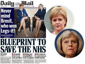 Jornal inglês é alvo de críticas por capa com pernas de políticas à mostra