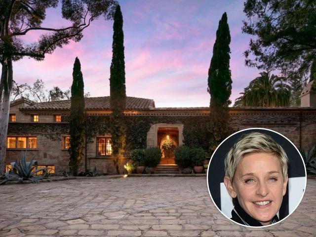 Ellen e sua mansão em Montecito, na Califórnia || Créditos: Getty Images