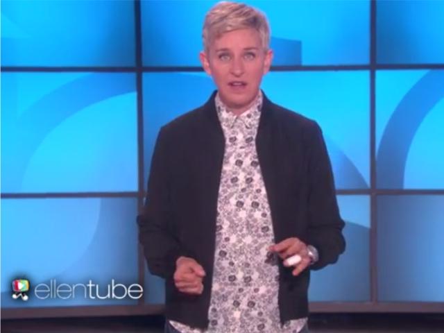 Ellen na abertura do programa desta terça    Créditos: Reprodução