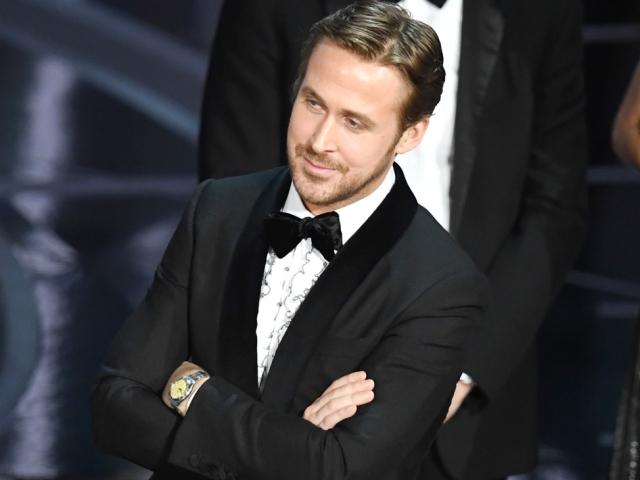 Ryan Gosling no palco do Oscar