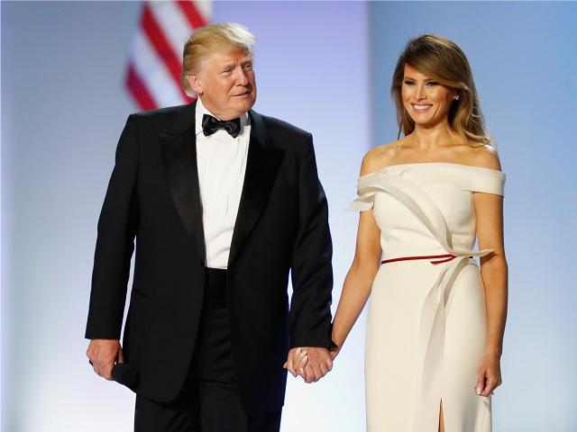 Donald e Melania Trump no baile de posse dele