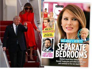 Melania e Donald Trump dormem em quartos separados