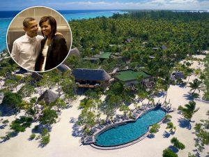 Michelle e Barack Obama estão na Polinésia Francesa, mas nem tudo é curtição