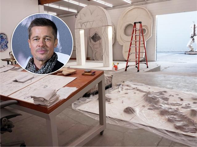 Brad Pitt e o estúdio de LA || Créditos: Getty Images/Reprodução