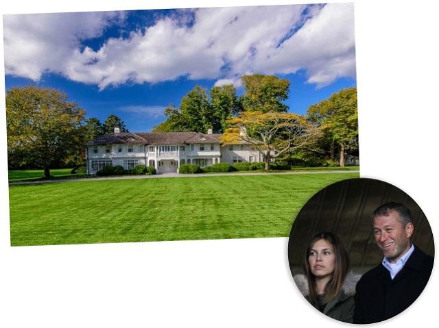 Lasata, no East Hampton, e o casal Roman Abramovich e Dasha Zhukova || Créditos: Getty Images/Reprodução