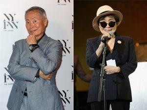 """George Takei, astro de """"Star Trek"""", é confundido com Yoko Ono no metrô"""