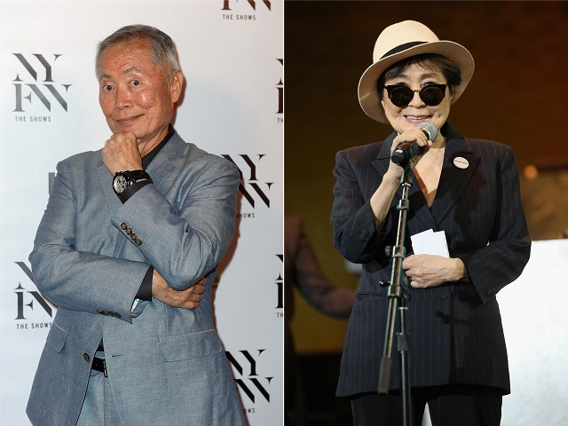 George Takei e Yoko Ono || Créditos: Getty Images