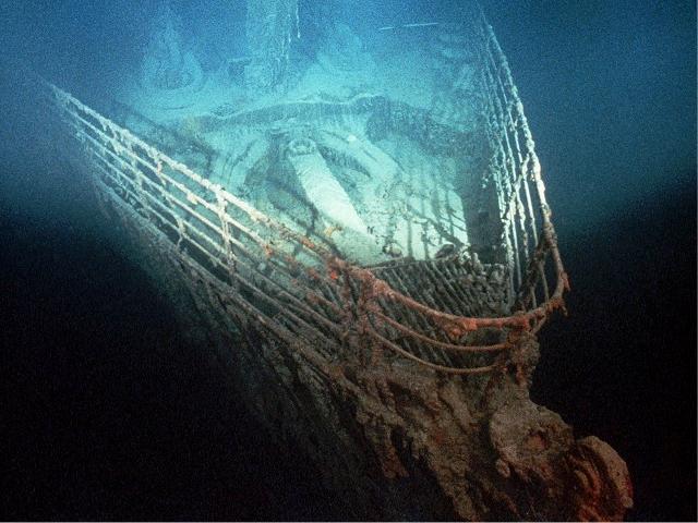 Os destroços do Titanic