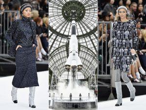 Chanel decola para o espaço sideral em desfile com pegada 60 e cenário uau!