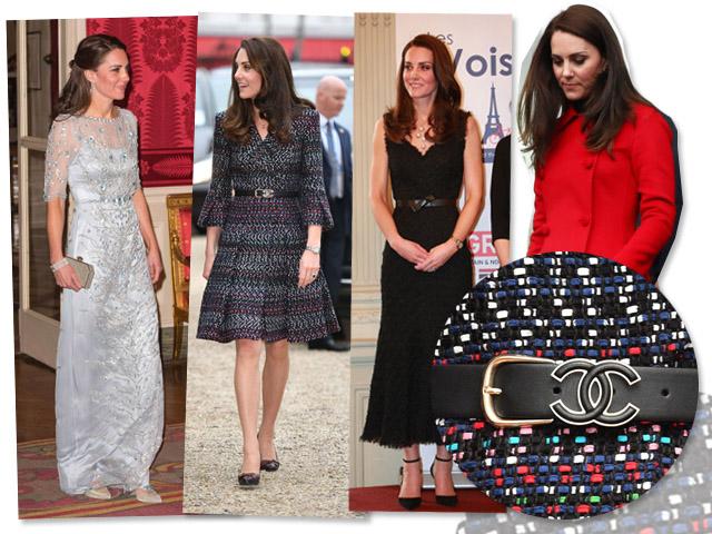 Looks usados por Kate Middleton durante viagem oficial a Paris || Créditos: Reprodução Instagram/Getty Images