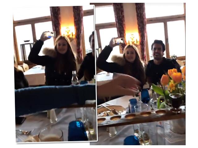 Marina Ruy Barbosa e Xande Negrão durante almoço com direito a shot  ||  Créditos: Reprodução Instagram