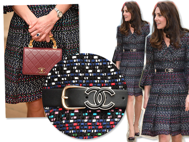 Look usado por Kate Middleton durante visita o Palácio dos Inválidos || Créditos: Getty Images
