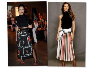 As saias dominam as escolhas das mais bem vestidas da semana. Espia só!