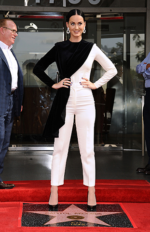 """LOS ANGELES, CA - NOVEMBER 16: Katy Perry attends the ceremony honoring Capitol Records by the Hollywood Chamber of Commerce with a """"Star of Recognition"""" at Capitol Records Tower on November 15, 2016 in Los Angeles, California. (Photo by Jason LaVeris/FilmMagic)"""